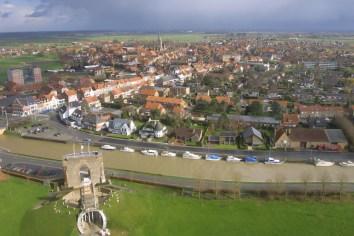 Flandes, Diksmuide, La Torre del Ijzer,, vista desde 84m