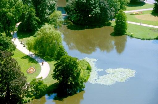 Alemania, Baja Sajonia, Hannover, jardines del Ayuntamiento