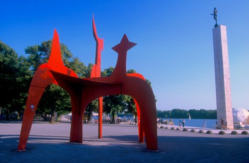 Alemania, Baja Sajonia, Hannover, Obra de Calder