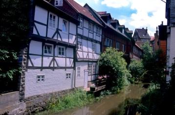 Alemania, Baja Sajonia, Wolfenbüttel, canal