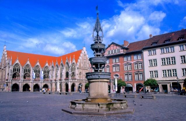 Alemania, Baja Sajonia, Braunschweig, plaza del Ayuntamiento
