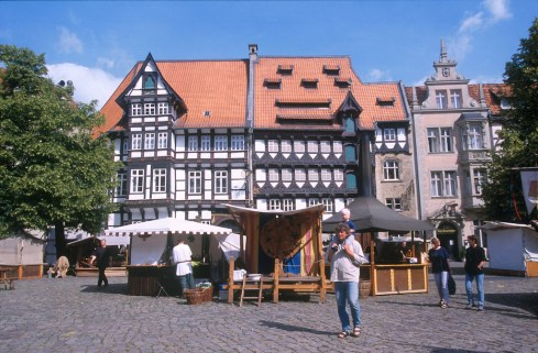 Alemania, Baja Sajonia, Braunschweig, plaza del castillo
