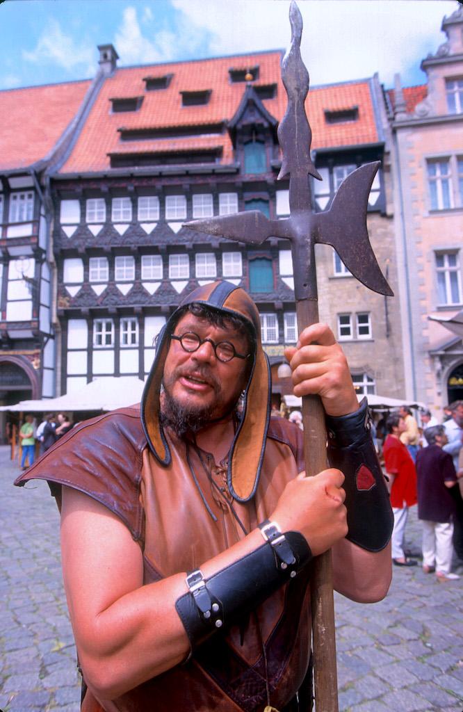 Alemania, Baja Sajonia, Braunschweig, plaza. del Castillo, Fiesta Medieval, retrato