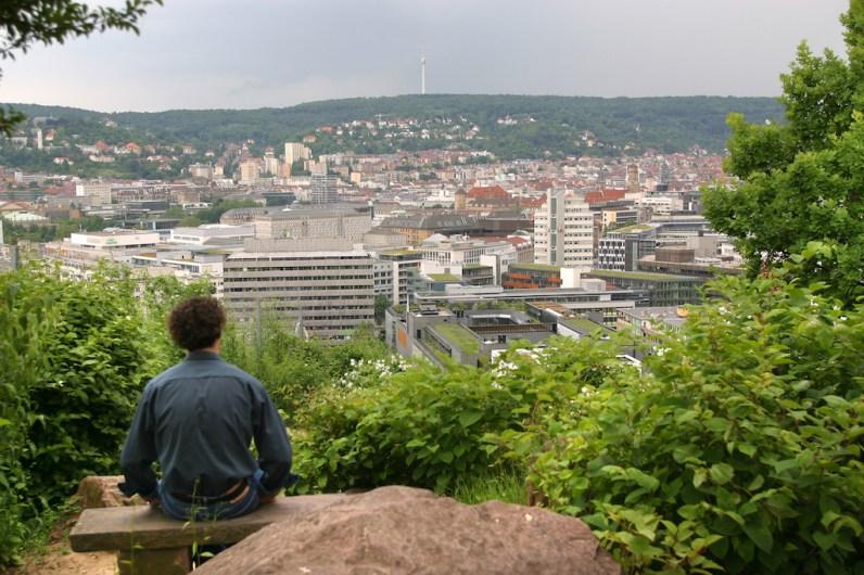 Alemania, Baden-Wurtemberg, Stuttgart, Jardines chinos, vista