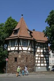 Alemania, Baden-Wurtemberg, Stuttgart, barrio de las Judías, torre Schellenturm