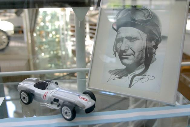 Alemania, Baden-Wurtemberg, Stuttgart, Stuttgart, museo Mercedes Benz, Manuel Fangio
