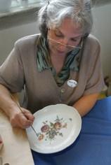 Alemania, Baden-Wurtemberg, Ludwigsburg, palacio Residenzschloss, artista, porcelana, retrato