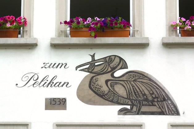 Alemania, Lago de Constanza, Pelicano, animal, mural