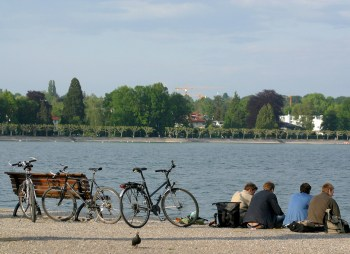 Alemania, Lago de Constanza, Puerto de Constanza, bicicleta