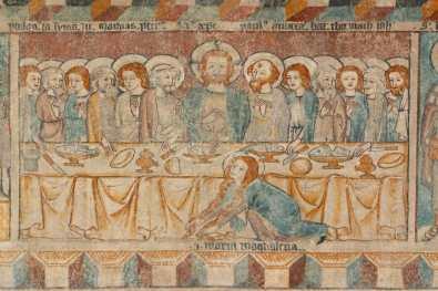 Austria, Lago De Constanza, Bregenz, Casco Antiguo, Frescos Torre De Martins Pintura Mural