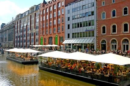 Alemania, Hamburgo, canal Alster