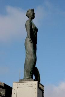 Alemania, Hamburgo, Ciudad de los Almacenes, Estatua Hammonia, escultura