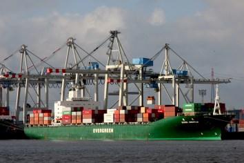 Alemania, Hamburgo, puerto, carga y descarga