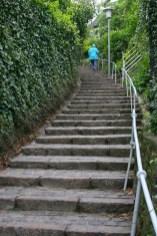 Alemania, Hamburgo, Balneario Blankenese, escalera