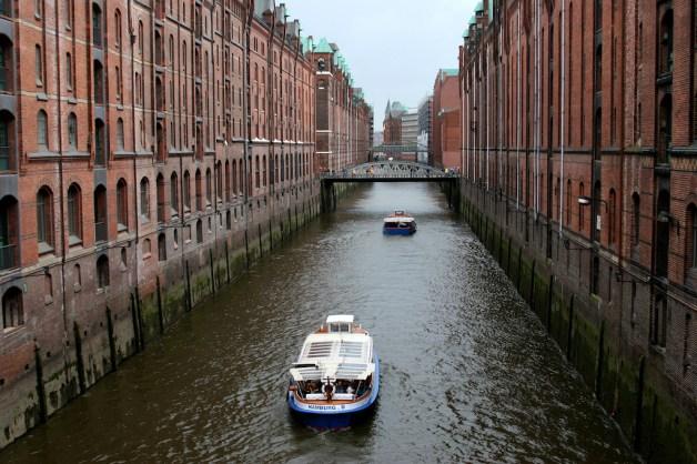 Alemania, Hamburgo, Ciudad de los Almacenes, canal