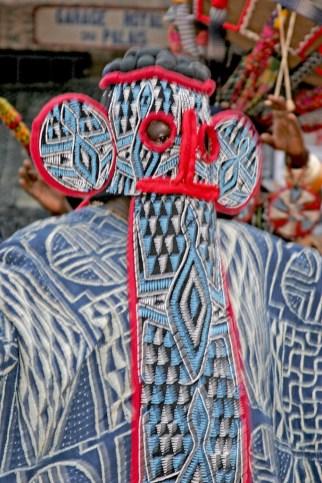 Camerún, Bafoussam, Chefferie, danza enmascarada