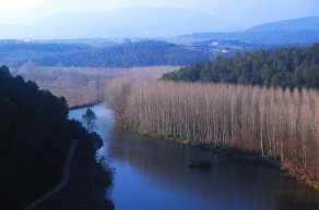 Pla de L'Estany, Crespia, Sant Miqel de la Roca, Río Fluvia