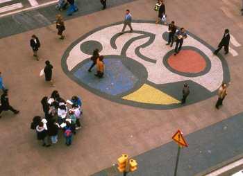 Barcelona, Las Ramblas, Obra de Joan Miro