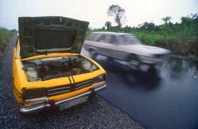 Nigeria, Ciudad de Lagos, carretera, transporte