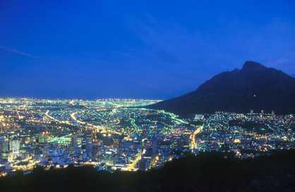 Sudáfrica, Capetown, Ciudad del Cabo, nocturno