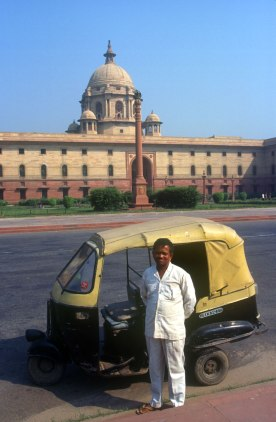 India, Delhi, Palacio Presidencial, Taxita
