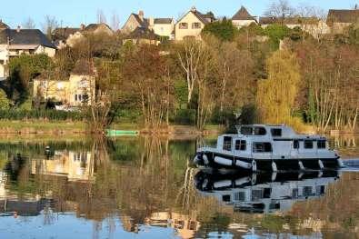 Francia, Loira Atlántico,Río Mayenne,