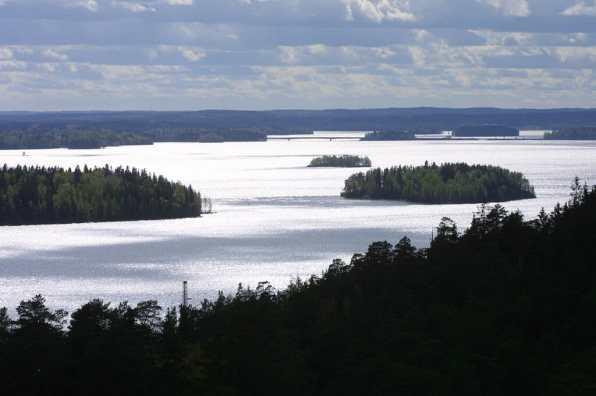 Finlandia, Tampere, Lago Pyhäjärvi, Noria