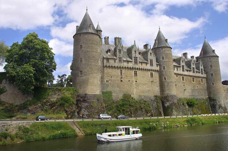 Bretaña, Josselin, Morbihan, Río Oust, Canal Nantes-Brest