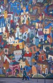 Francia, Lyon,Pintura Mural, Boccuse, Obra de Cite de La Creation