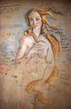 Toscana, Florencia, Pintura Mural, Venus, graffiti