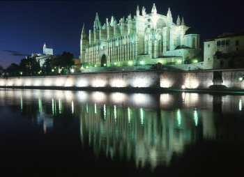 España, Mallorca, Catedral de Noche