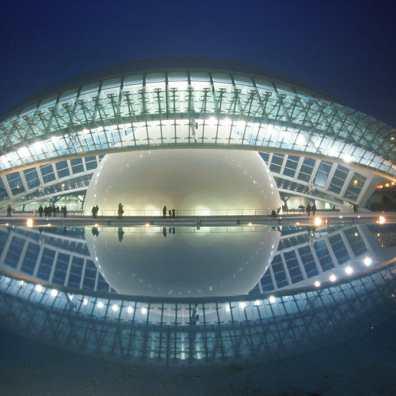 Valencia, Ciudad Artes y Ciencias, nocturno