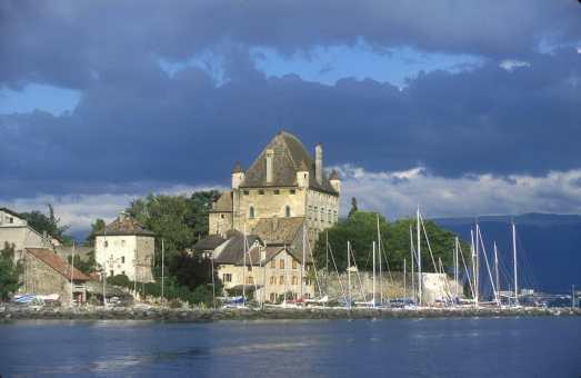 Francia, Alta Saboya, Yvoire, Lago Leman