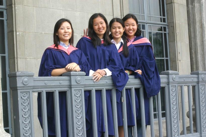 Singapur, Palacio de Justicia, estudiantes graduadas