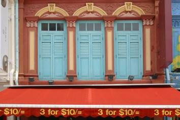 Singapur, Chinatown, ventana
