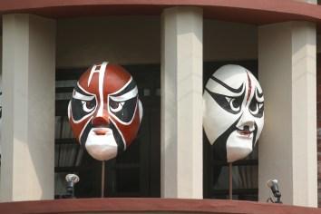Singapur, Chinatown, mascaras opera China