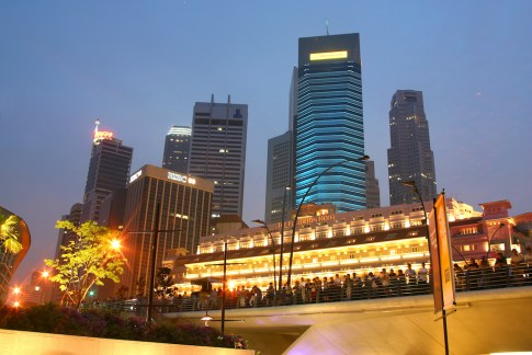 Singapur, Marina Bay, nocturno