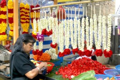 Singapur, Pequeña India, mercado de flores