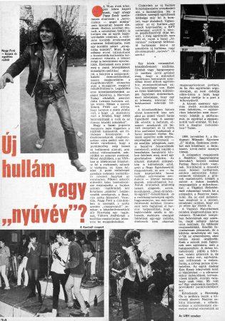 Szőnyei Tamás Ujhullam cikk 1/2 (1981)