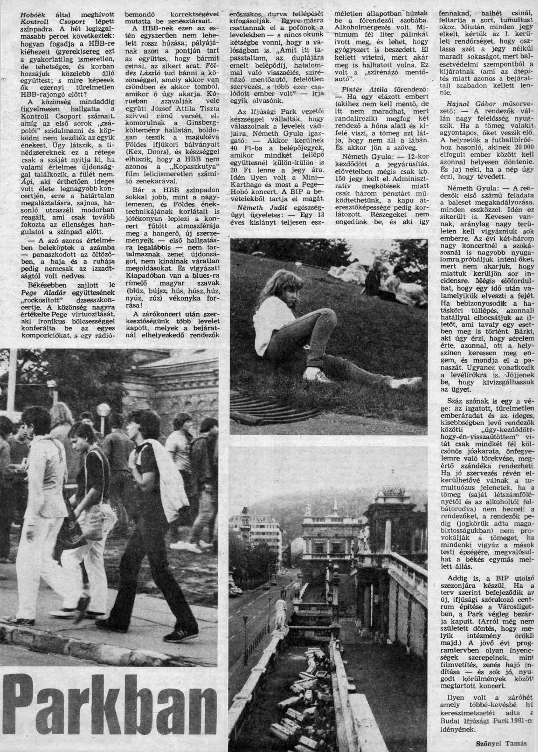 Magyar Ifjúság 1981.11.13 - 46. szam - Szőnyei Tamás cikke - 2. oldal