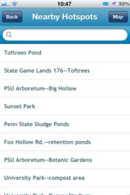 list of nearby hotspots