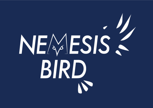 4. Mike Olek styled this logo on a Great Gray Owl, only showing part of the logo since nemesis birds tend to be hard to see.