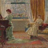 An Interior with Two Women
