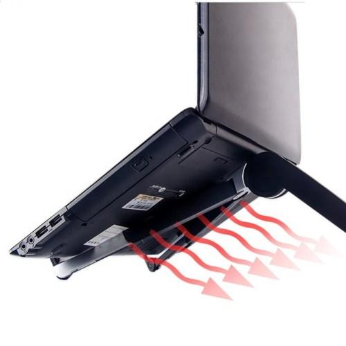 Laptop holder – Justerbar og foldbar trefod – Sort