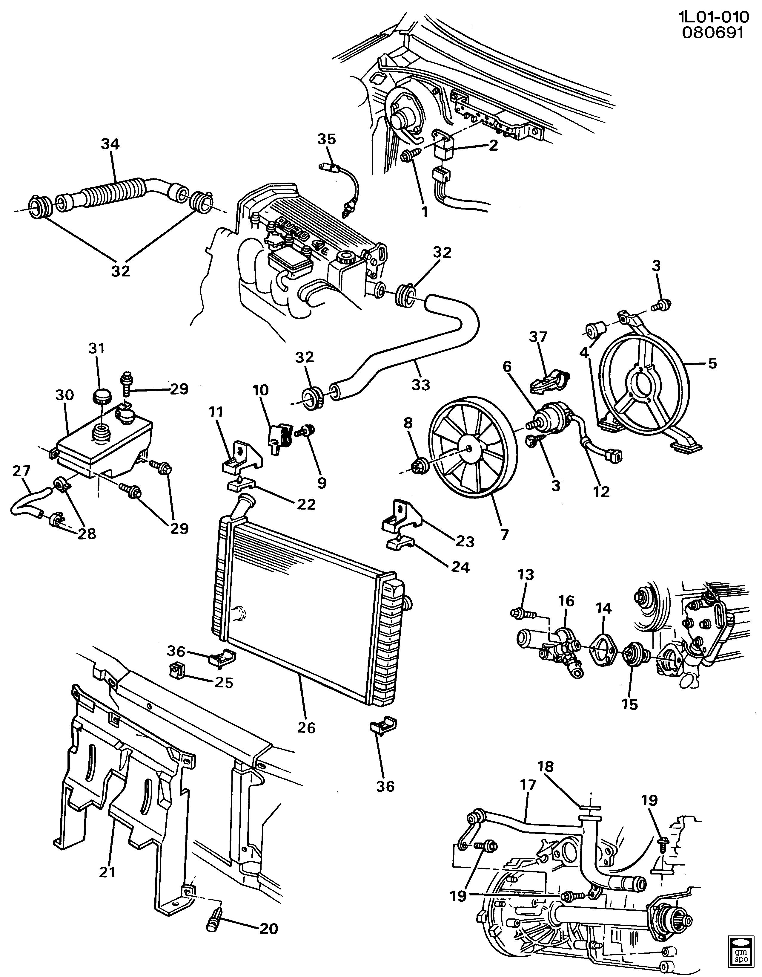 Gm L Engine Cooling Diagram