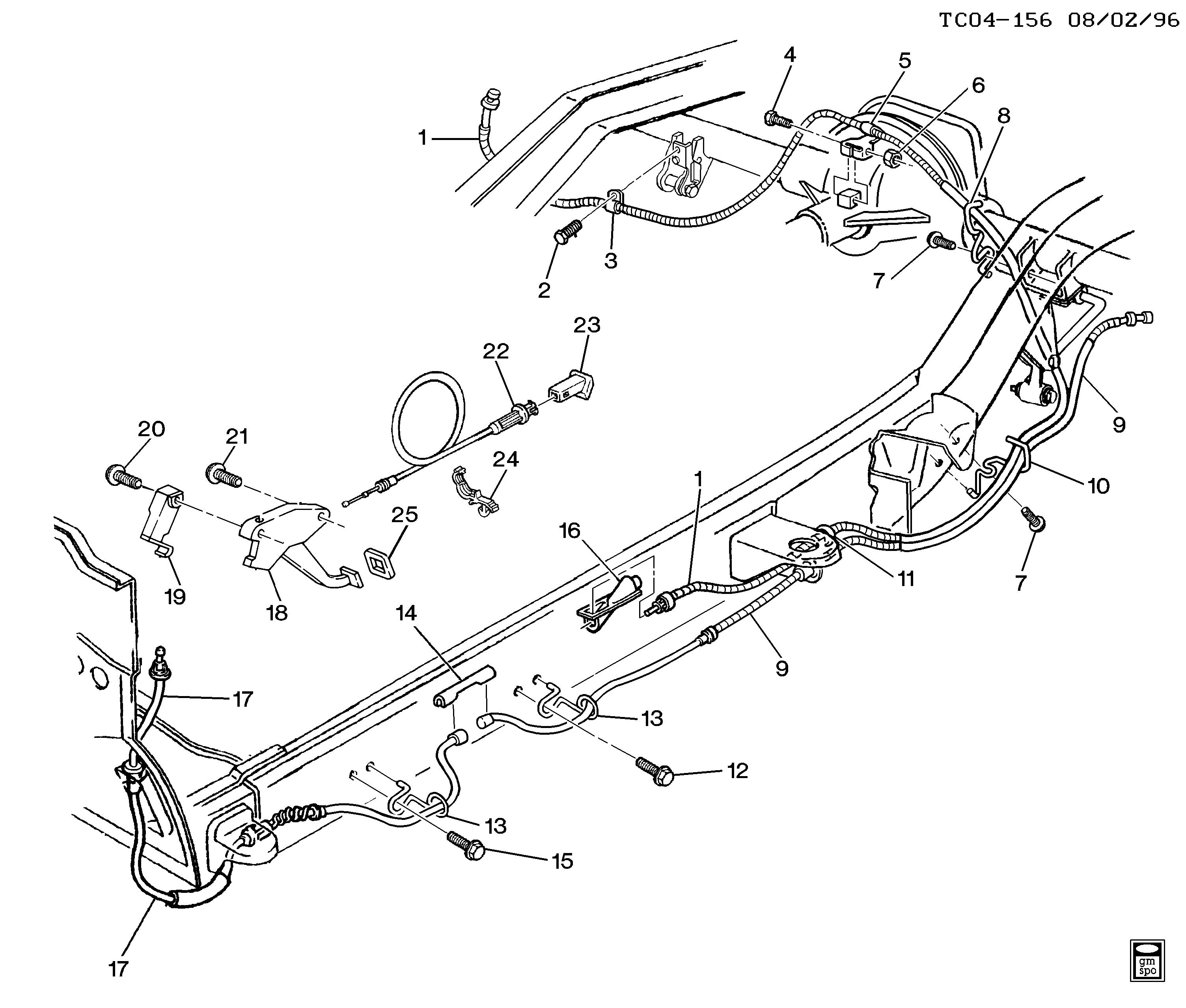 31 Chevy Silverado Emergency Brake Cable Diagram