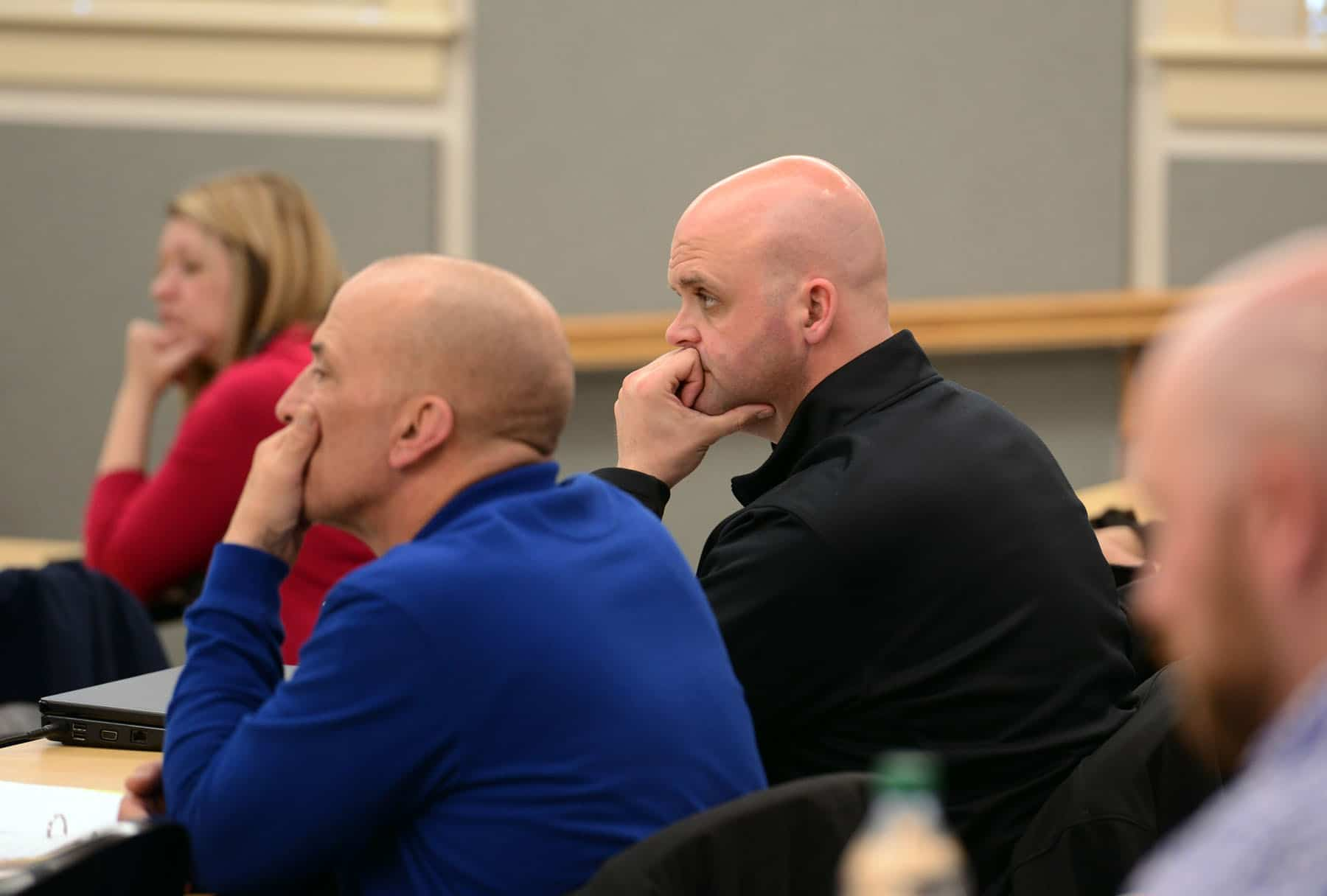 Woburn Police Detectives Gregory Post and Mark Shaughnessy. (John Guilfol Public Relations Courtesy Photo)