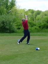Chelmsford Police Chief James Spinney plays golf.