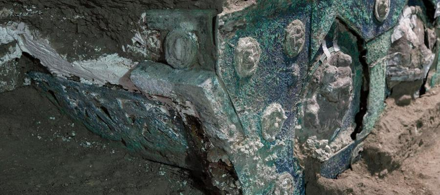 POMPEII DISCOVERS ANCIENT PROCESSIONAL CARRIAGE