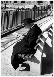 | Battery Place, New York (man reading on bench), 1963 |